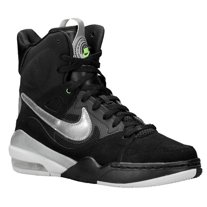 NIKE | Air Ascension Force Hi Negrii/Albi/Gri/Metallic Argintii | Adidasi Baschet Dama | 71858-733