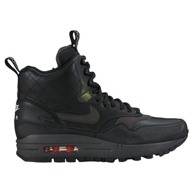 NIKE | Air Max 1 Mid Sneakerboot Negrii/Negrii/Rosii Deschis | Adidasi Casual Dama | 67030-736
